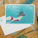 "post card ""mermaid"""