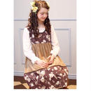 アンティークアリス別珍ドレス-ホットチョコレート
