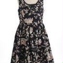 シークレットガーデンドレス-ブラックバッカラ