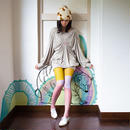 Lotus land Tights Pink (polar bear)  60デニール
