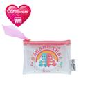 ViVi × Carebears ラメ入りフラットポーチS ピンク SHARE THE LOVE