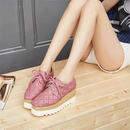 B102 Leather Thick bottom  flat shoes