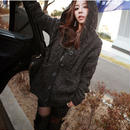 B066 Casual Design Knit Hoodie 2color