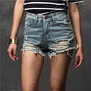 B063 HighWaist ShortDenim Pants