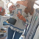 ginger and sprout(ジンジャーアンドスプラウト)/ PRINT OFFSHOULDER