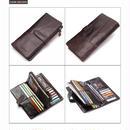 ビンテージデザイン牛革 二つ折り財布 3ウェイウォレット #e106