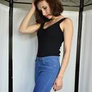 Goplus セクシー クロップトップ ニット 夏 タンクトップ 女性 ブラウス ノースリーブ vネック トップ 女性 tシャツ ベスト カジュアル キャミ ストリート ニット タンクトップ インナー