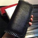 Estelle Wang スエード pvcレザー チェーン cluth 女性 ヨーロッパ アメリカ スタイル 固体 ジッパー 掛け金 レザー 標準 財布 ロング コットン 財布 ファスナー ロング