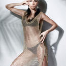 Andzhelika ビキニ 女性 セクシー カバーアップ 水着 水着 メッシュ ビーチ ドレス 水着 夏 ビーチ カバー  水着 セクシー ソリッド メッシュ 夏 ビキニ 胸元 ドレス 送料無料