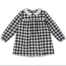 【little cotton clothes 】penny dress - charcoal gingham