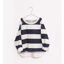 【fish&kids】indigo STRIPES SWEATSHIRT