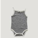 【Jamie kay】Stripe Singlet Bodysuit - Oatmeal/Navy