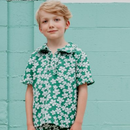 【fish&kids】こども GREEN FLOWER POLO