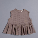 Juliet Top - Brown Broderie