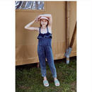 【fish&kids】RUFFLE -DENIM JUMPSUIT