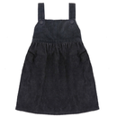 last 1【little cotton clothes 】TABITHA  PINAFORE  SLATE CHUNKY CORD