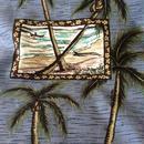 ワイキキビーチ 椰子ボーダープリント