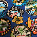 ハワイ各島スタンプ柄