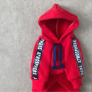 ORIGINAL  sporty hoodie . [ red   XS・S・M ]