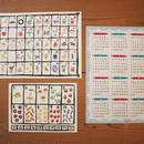 2019年カレンダー(A3)型染めあいうえお表(A3)と型染めすうじ表(A4)