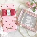 【リボン付き】Pink×RedHeart♡【ハードケース】