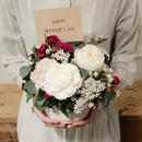 mother's day flower arrangement  /Pale Pink(M)