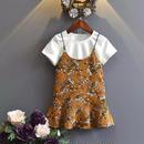 半袖Tシャツ+花柄キャミワンピSET