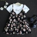 半袖Tシャツ+花柄キャミソールワンピSET