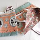 バッグ&うわばき袋セット女の子用・アリスオーバル・シャーベットカラー