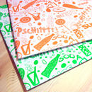 レトロ包装紙*ソーダ柄ラッピングペーパー