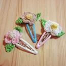 お花モチーフのパッチンピン