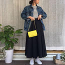Julia(チノロングラップスカート):ネイビー