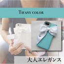 Hime. ティファニーカラーイニシャル手帳型 iphone5/SE iPhoneX iphone6 iPhone7/8ケース