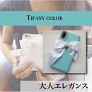 Hime. ティファニーカラーパールビジュー手帳型 iphone5/SE iPhoneX iphone6 iPhone7/8ケース  のコピー