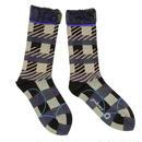 pattern layer socks / ブラック
