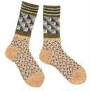 triangle light mix socks / ブルー