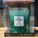"""WOOD WICK"" Trilogy jar M Aroma Candle(ocian escape)"