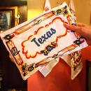 """RED and WHITE Kitchen Company"" Map Pouch[TEXAS]"