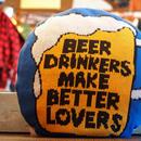 """""""WONDER BRAIDS""""  KNIT CUSHION (Beer)"""