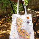 """RED and WHITE Kitchen Company"" Map Tote Bag(California)"