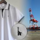 おとなラインポロシャツ ホワイト(UMIKIRIN)
