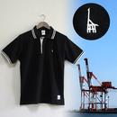 おとなラインポロシャツ ブラック(UMIKIRIN)