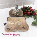金襴生地で作った親子猫財布