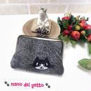 イラスト刺繍のカードケース&小さなお財布【ハチワレにゃんこ】