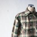 ウールチェックシャツ(ショート丈リメイク)