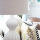 White Glam Curvey Lamp