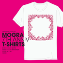 MOGRA 7th Anniv. T-Shirts (White & Burgandy)