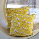 【Lisa Edoff】Yellow Magnolia クッションカバー