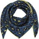 LEO-Blue/Lime  53×53cm  シルクスカーフ