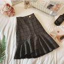 フィッシュテールグリッドスカート